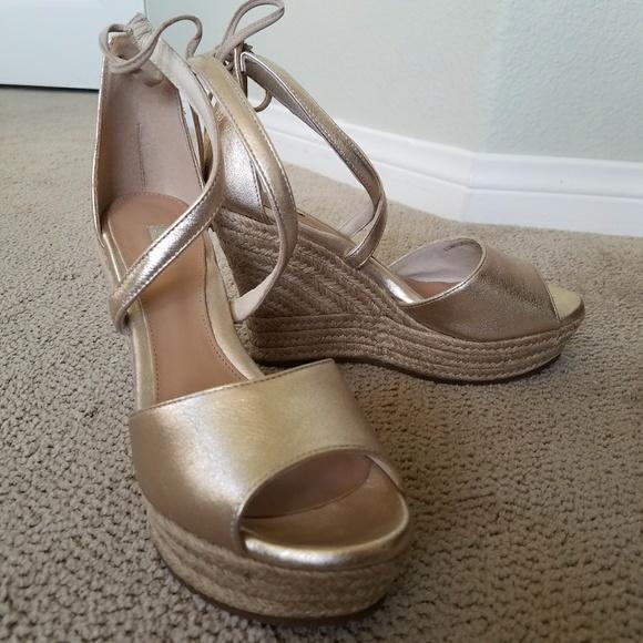 6b467e31680 UGG Reagan Metallic Wedge Sandal (Women's)